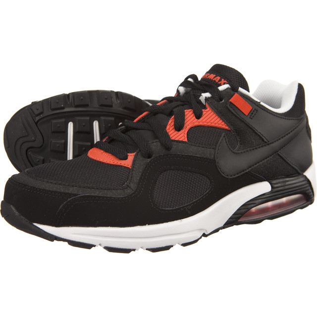xeroy MENS NIKE AIR MAX GO STRONG LEATHER TRAINERS - UK SIZE 8.5 - BLACK