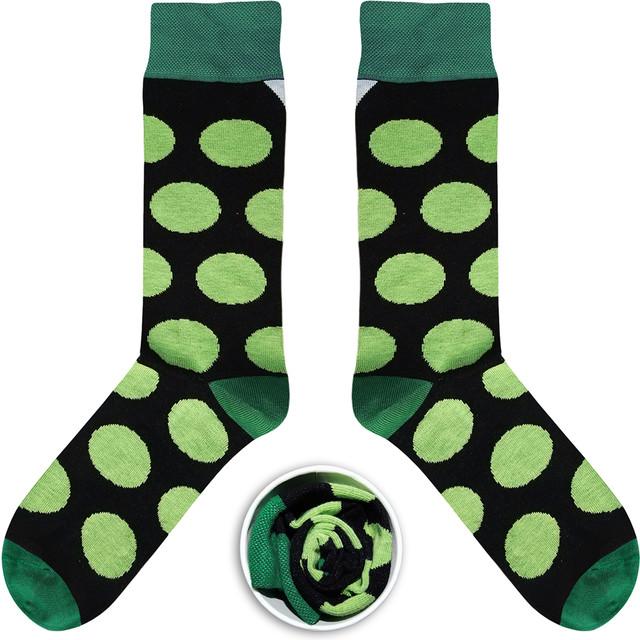 Czarne w Zielone Grochy