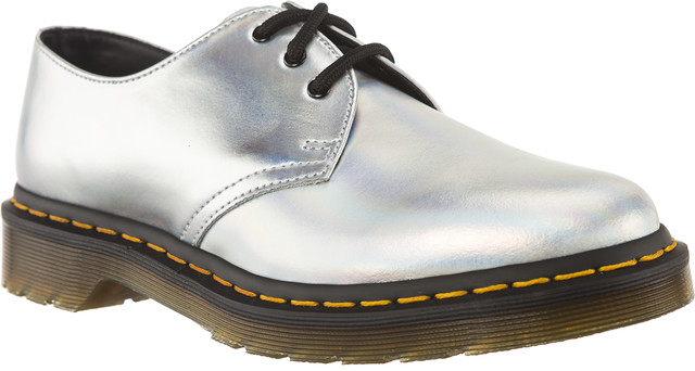 Dr. Martens 1461 ICED METALLIC SILVER LAZER REFLECTIVE METALLIC LEATHER 23552073