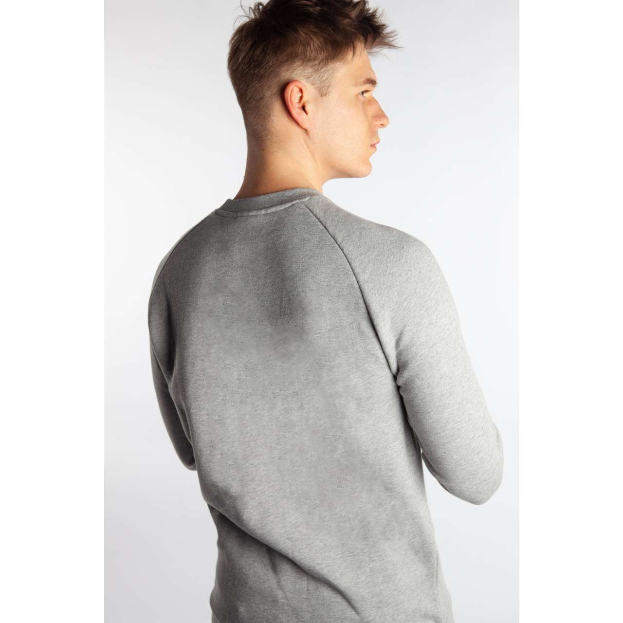 Bluza adidas  <br/><small>TREFOIL CREW MEDIUM GREY HEATHER </small>  CY4573