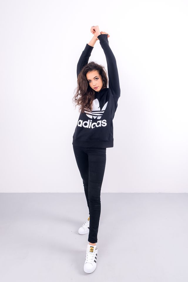 Bluza adidas  <br/><small>TREFOIL HOODIE BLACK </small>  CE2408