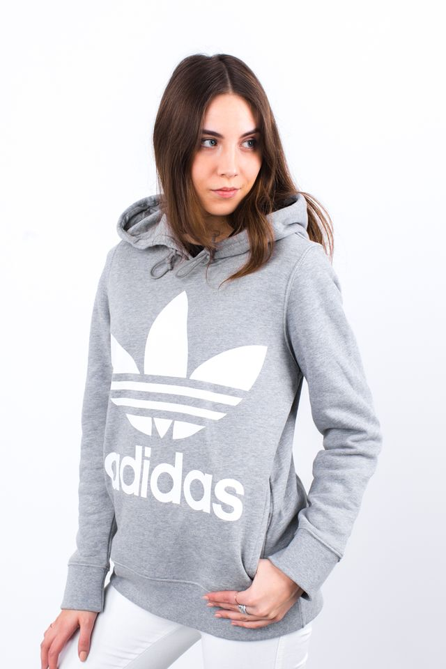 adidas TREFOIL HOODIE MEDIUM GREY HEATHER CY6665