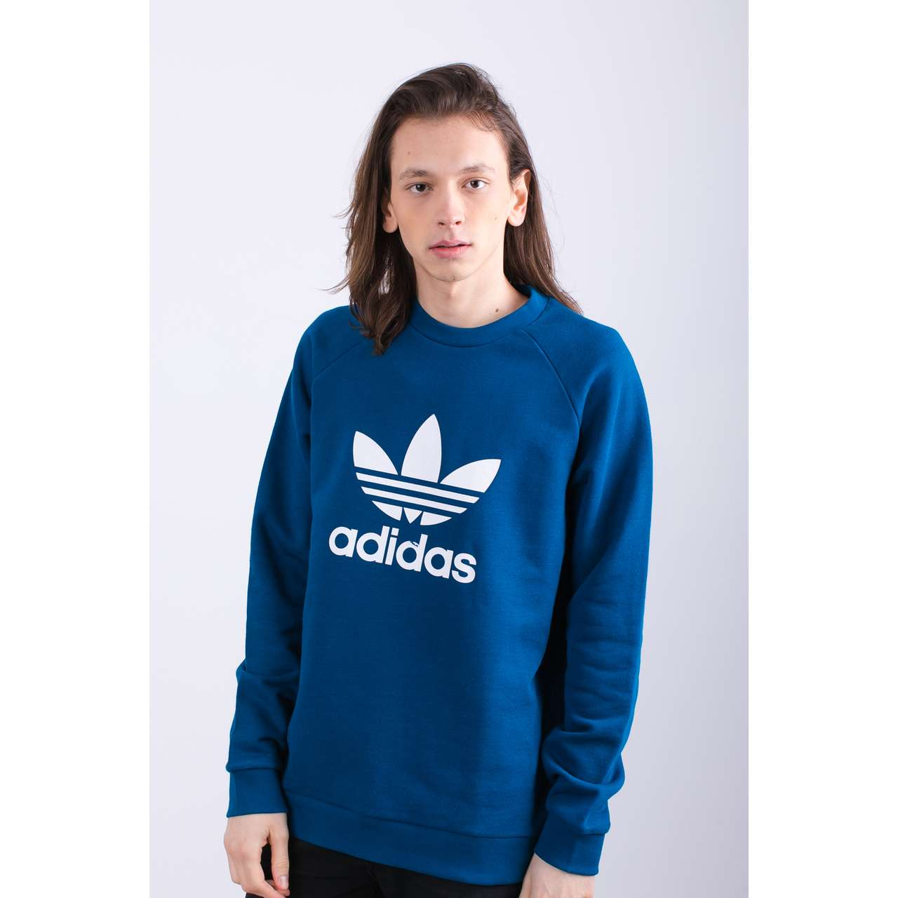 Bluza adidas  <br/><small>TREFOIL WARM-UP 545 LEGEND MARINE </small>  DV1545