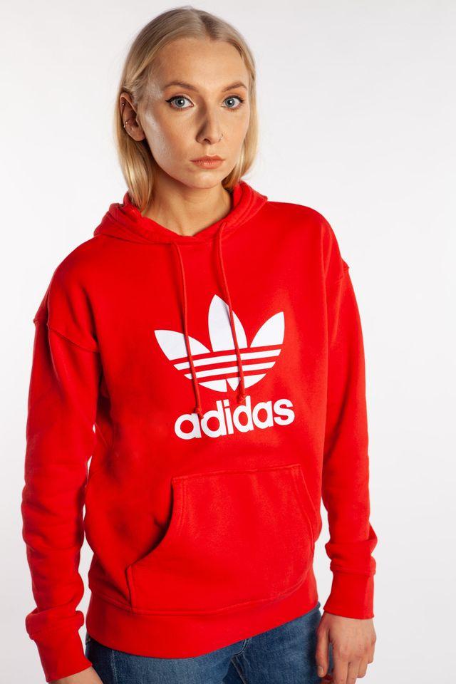 adidas TREFOIL HOODIE 298 LUSH RED/WHITE FM3298