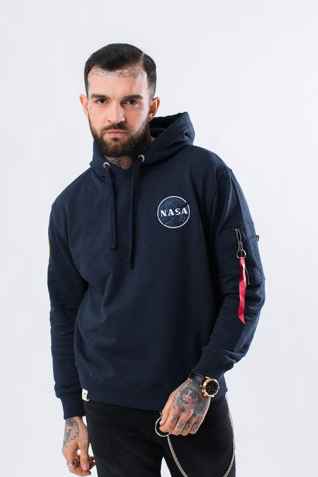 Alpha Industries APOLLO 11 HOODY 07 REP. BLUE 188310-07