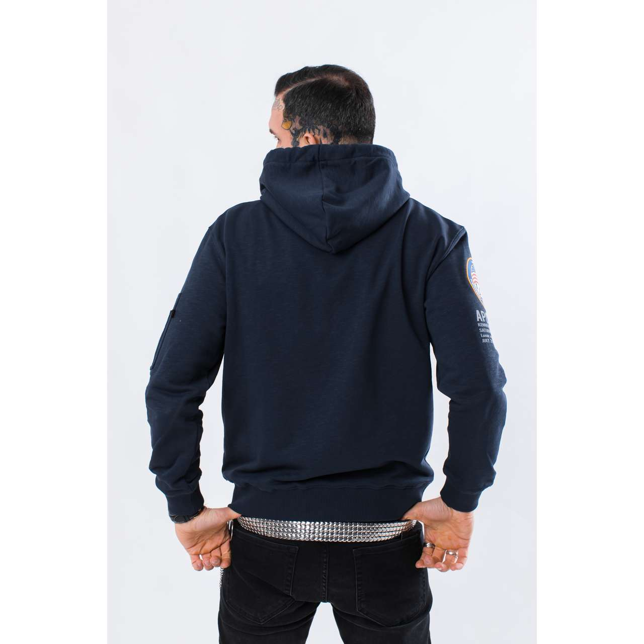 Bluza Alpha Industries  <br/><small>APOLLO 11 HOODY 07 REP. BLUE </small>  188310-07