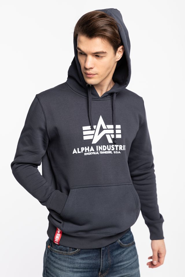 Alpha Industries BASIC HOODY 02 NAVY 178312-02