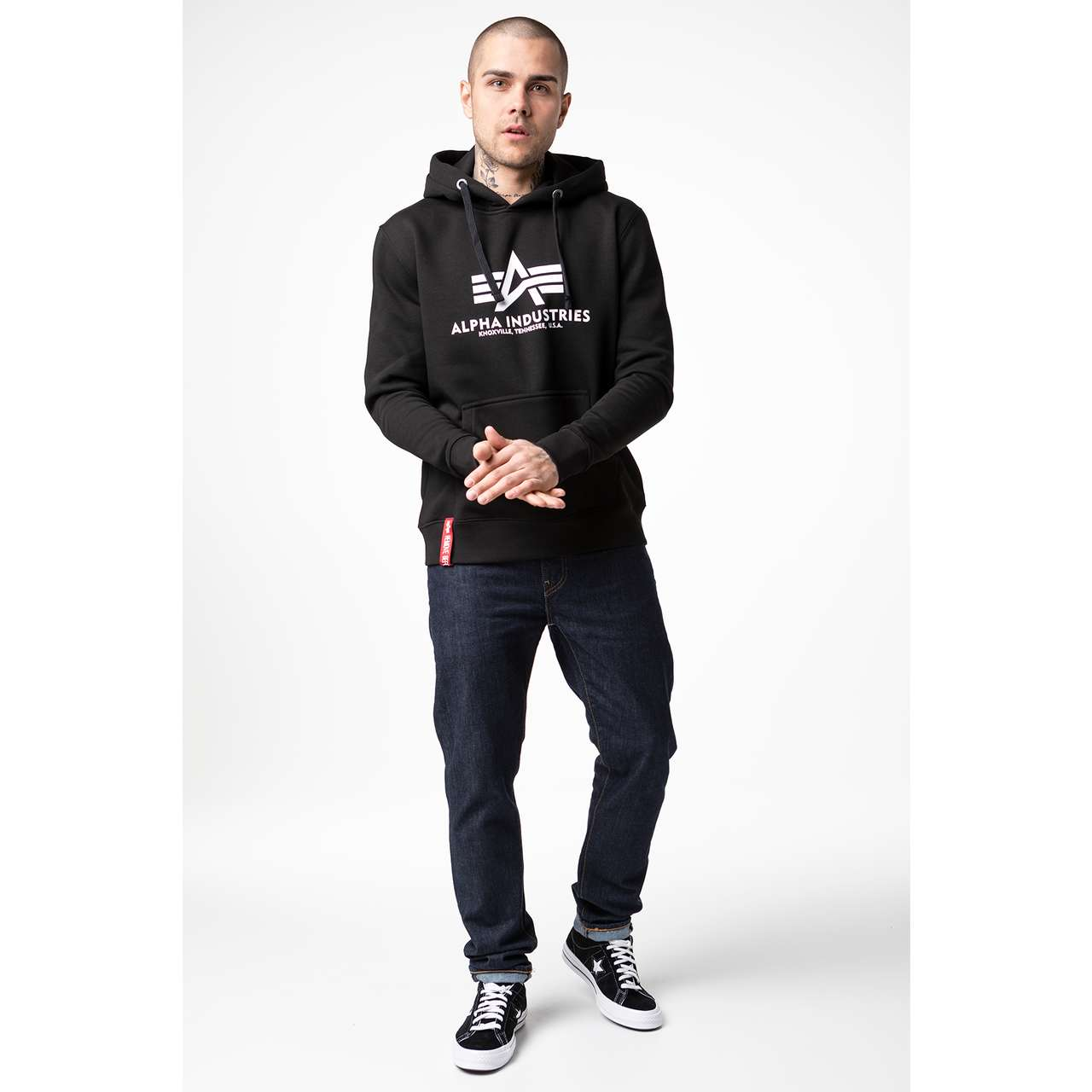Bluza Alpha Industries  <br/><small>BASIC HOODY 03 BLACK </small>  178312-03