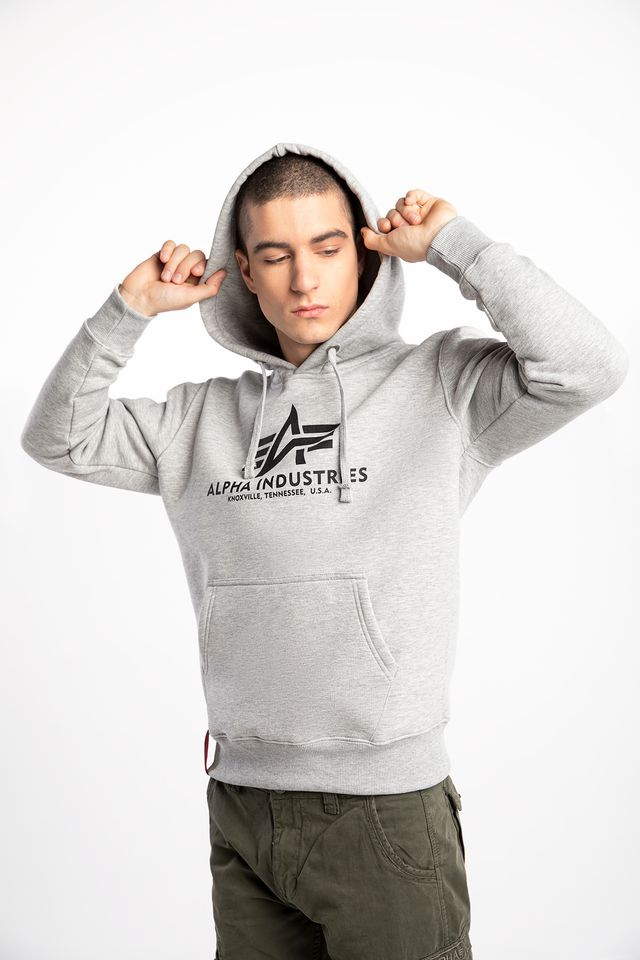 Alpha Industries BASIC HOODY 17 GREY HEATHER 178312-17