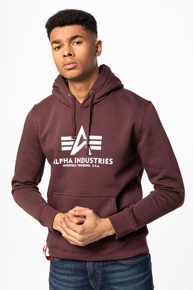 Alpha Industries BASIC HOODY 21 DEEP MAROON 178312-21