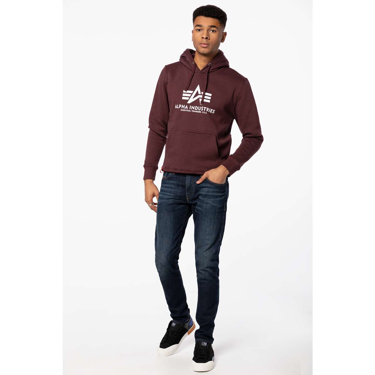 Bluza Alpha Industries  <br/><small>BASIC HOODY 21 DEEP MAROON </small>  178312-21