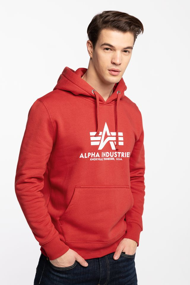 Alpha Industries BASIC HOODY 328 SPEED RED 178312-328