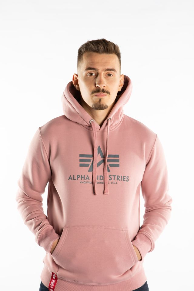 Alpha Industries BASIC HOODY 397 SILVER PINK 178312-397