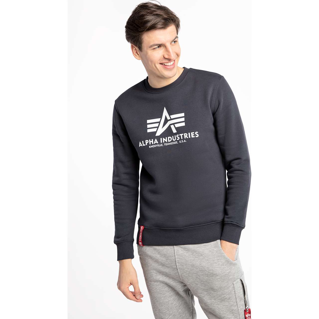 Bluza Alpha Industries  <br/><small>BASIC SWEATER 02 NAVY </small>  178302-02