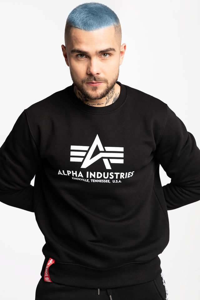 Alpha Industries BASIC SWEATER 03 BLACK 178302-03