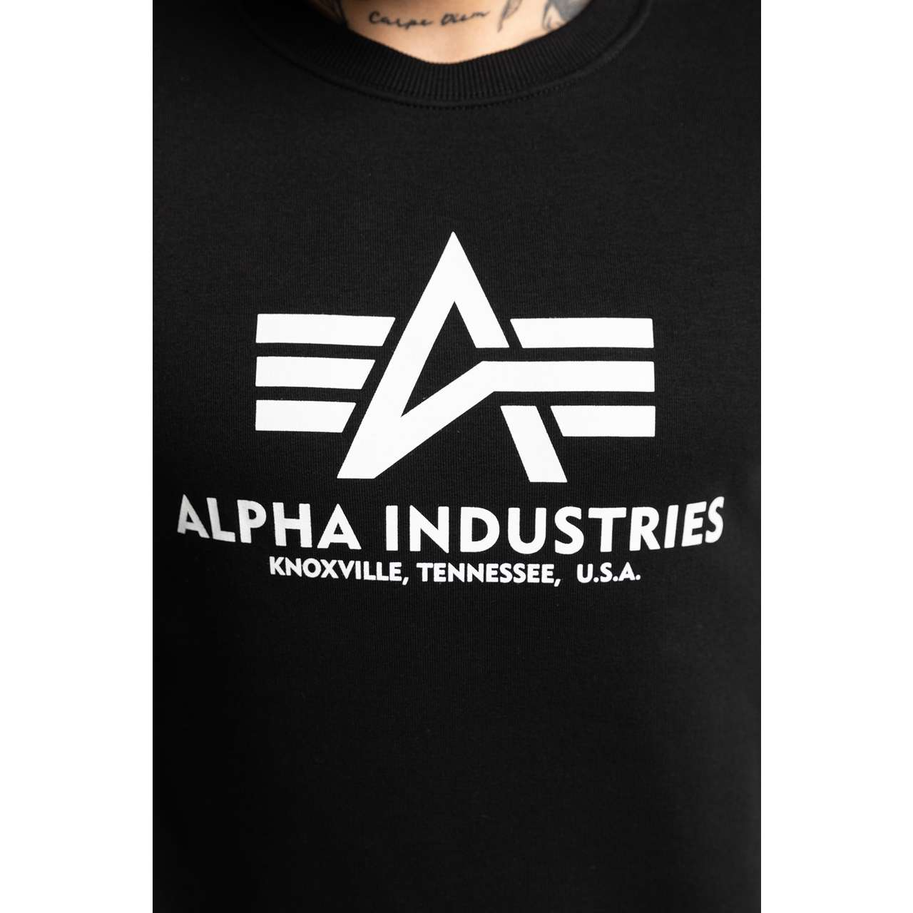 Bluza Alpha Industries  <br/><small>BASIC SWEATER 03 BLACK </small>  178302-03