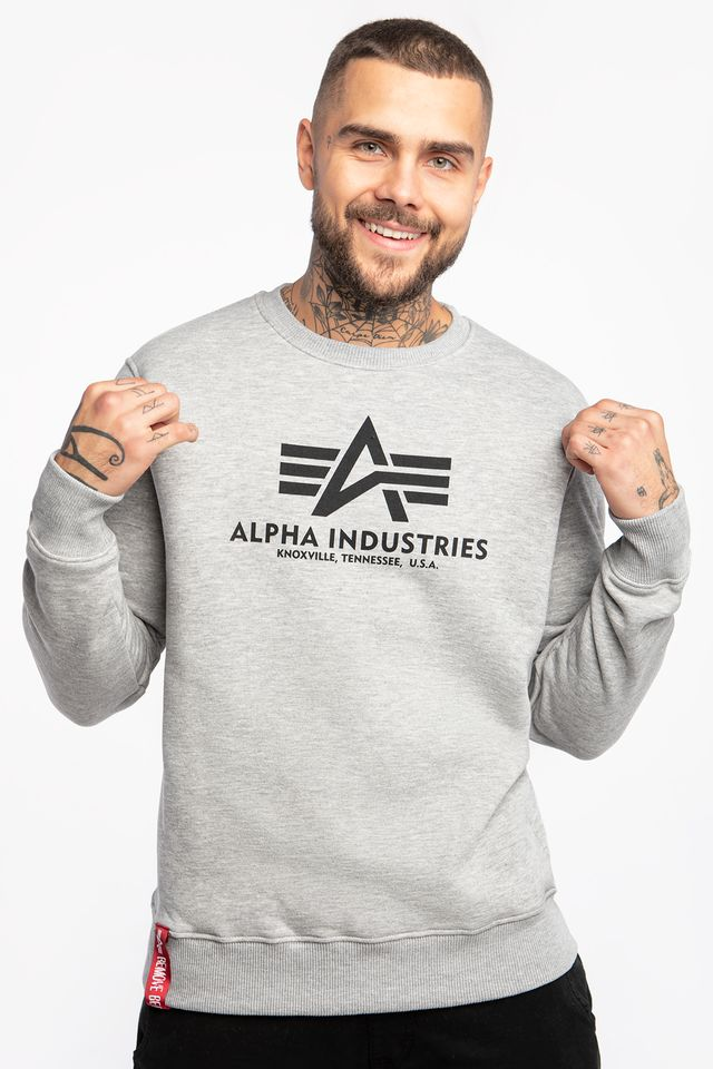 Alpha Industries BASIC SWEATER 17 GREY HEATHER 178302-17