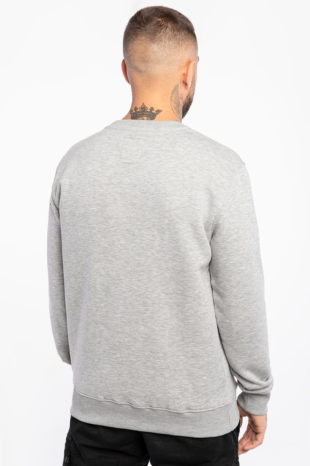 Bluza Alpha Industries  <br/><small>BASIC SWEATER 17 GREY HEATHER </small>  178302-17