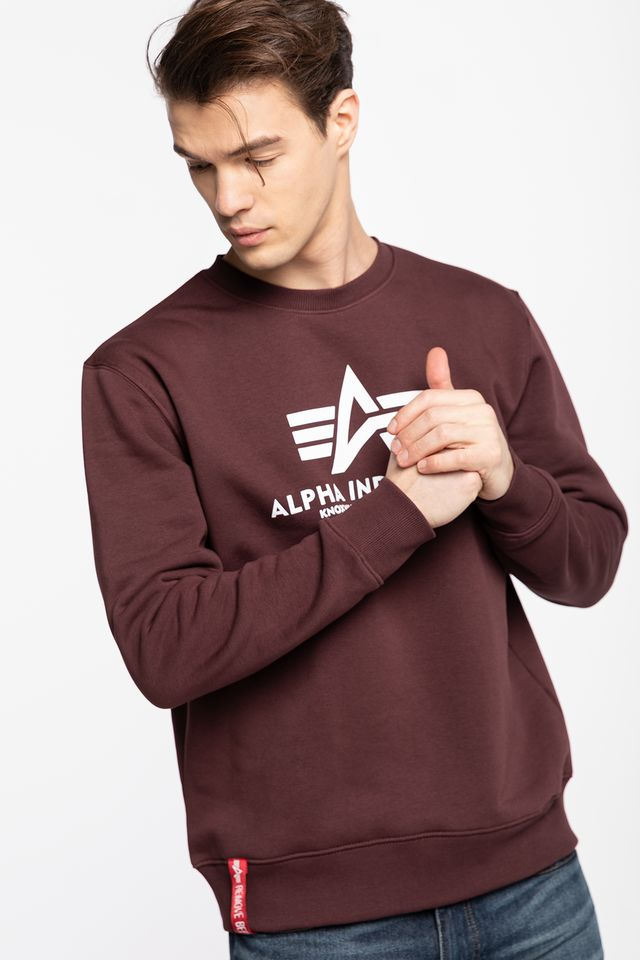 Alpha Industries BASIC SWEATER 21 DEEP MAROON 178302-21