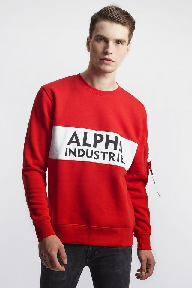 Alpha Industries INLAY SWEATER 328 SPEED RED 188308-328