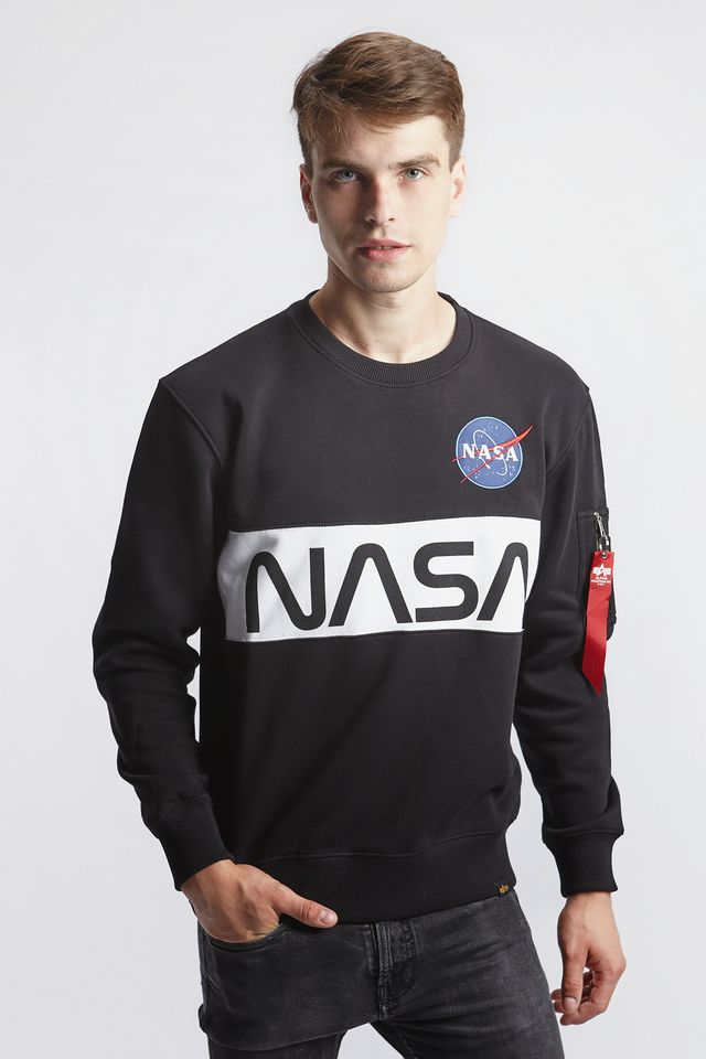 Alpha Industries NASA INLAY SWEATER 03 BLACK 178308-03