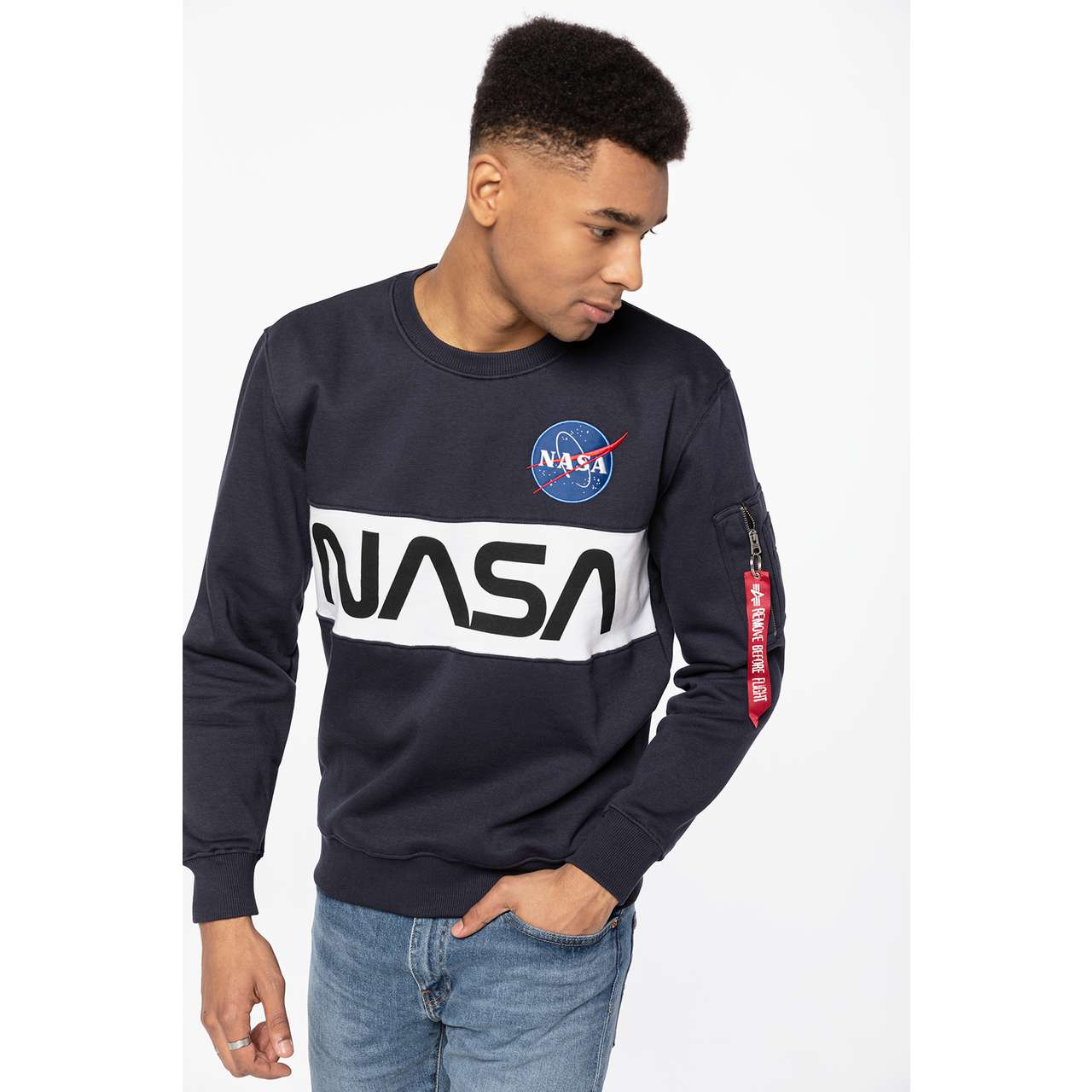 Bluza Alpha Industries  <br/><small>NASA INLAY SWEATER 07 REP. BLUE </small>  178308-07