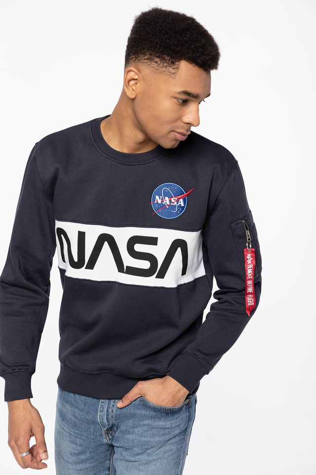 REP. BLUE NASA INLAY SWEATER 07