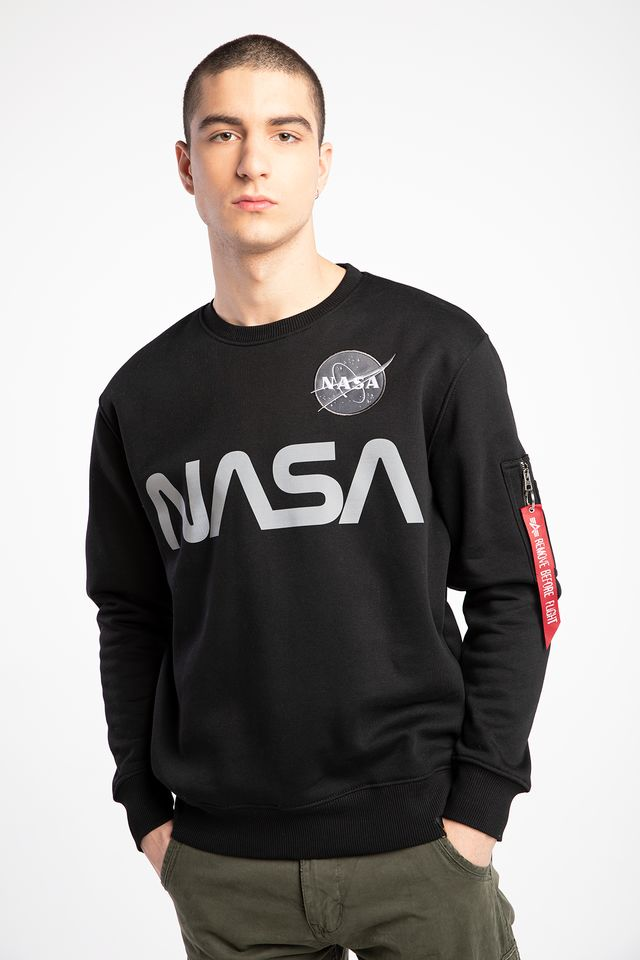 Alpha Industries NASA REFLECTIVE SWEATER 03 BLACK 178309-03