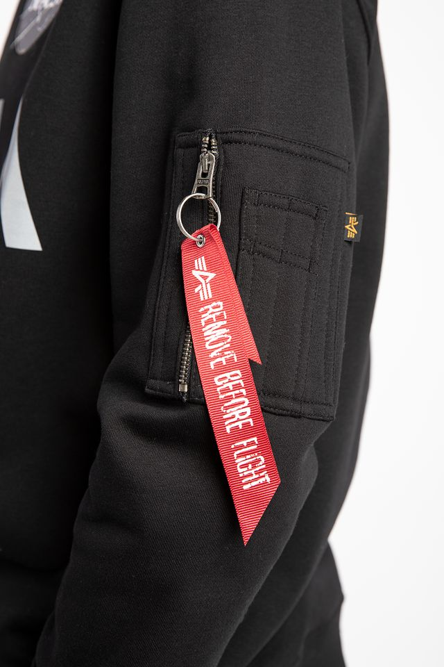 Bluza Alpha Industries  <br/><small>NASA REFLECTIVE SWEATER 03 BLACK </small>  178309-03