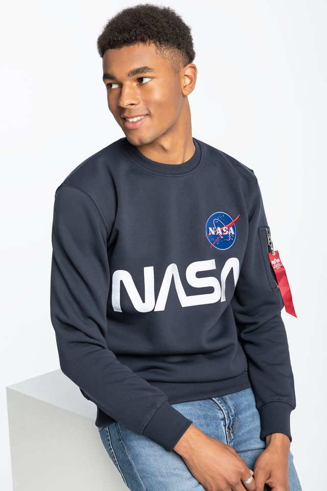 Alpha Industries NASA REFLECTIVE SWEATER 07 REP. BLUE 178309-07
