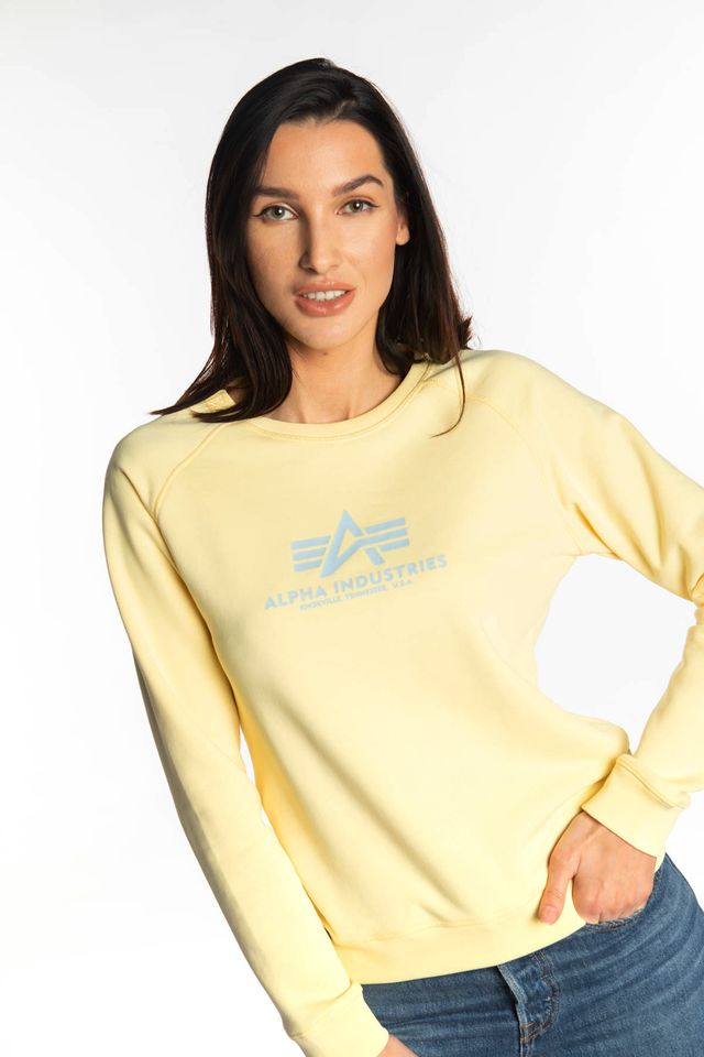 Alpha Industries NEW BASIC SWEATER WMN 495 PASTEL YELLOW 196031-495