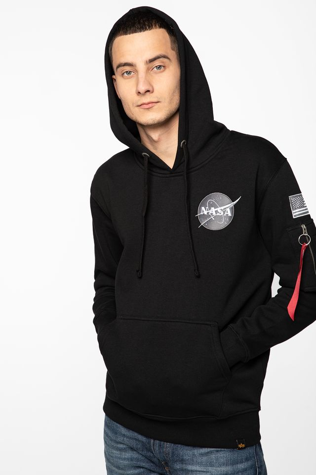 Alpha Industries SPACE SHUTTLE HOODY 03 BLACK 178317-03