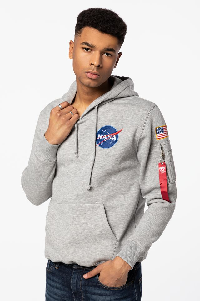 Alpha Industries SPACE SHUTTLE HOODY 17 GREY HEATHER 178317-17