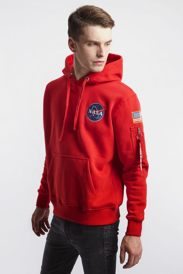 Alpha Industries SPACE SHUTTLE HOODY 328 SPEED RED 178317-328