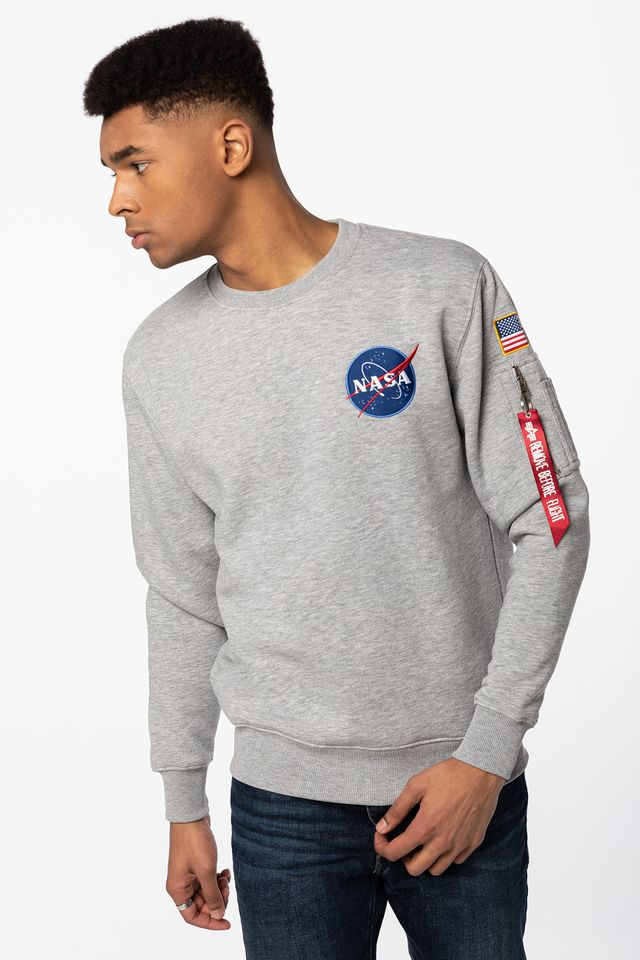 Alpha Industries SPACE SHUTTLE SWEATER 17 GREY HEATHER 178307-17