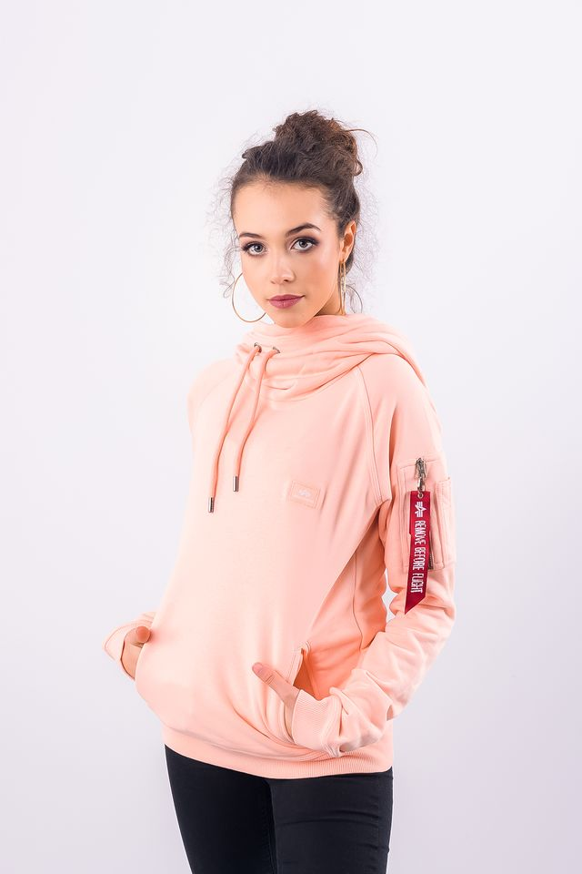 Alpha Industries X-FIT HOODY WMN 396 APRICOT 176030-396