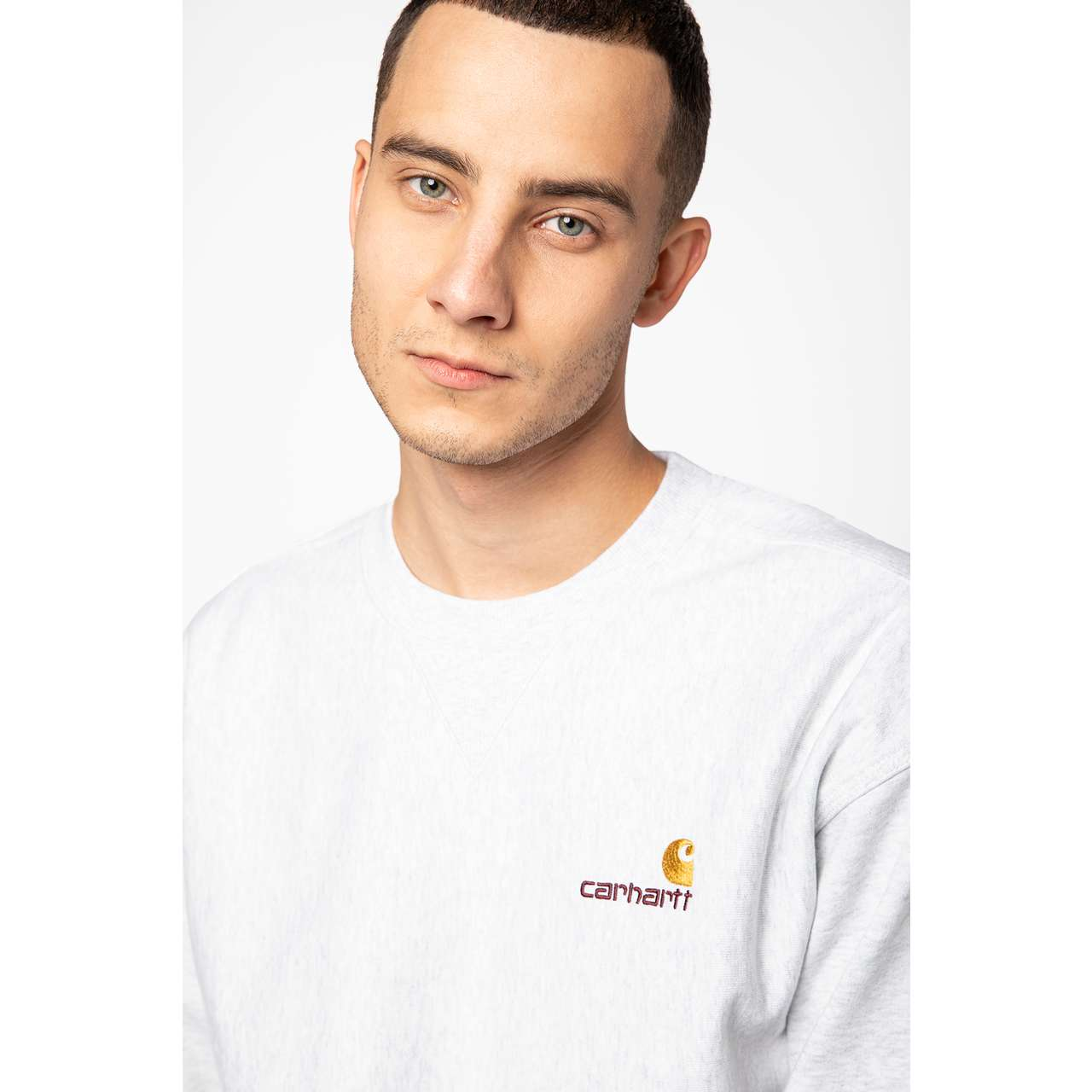 Bluza Carhartt WIP  <br/><small>AMERICAN SCRIPT SWEAT 48200 ASH HEATHER </small>  I025475-4820003