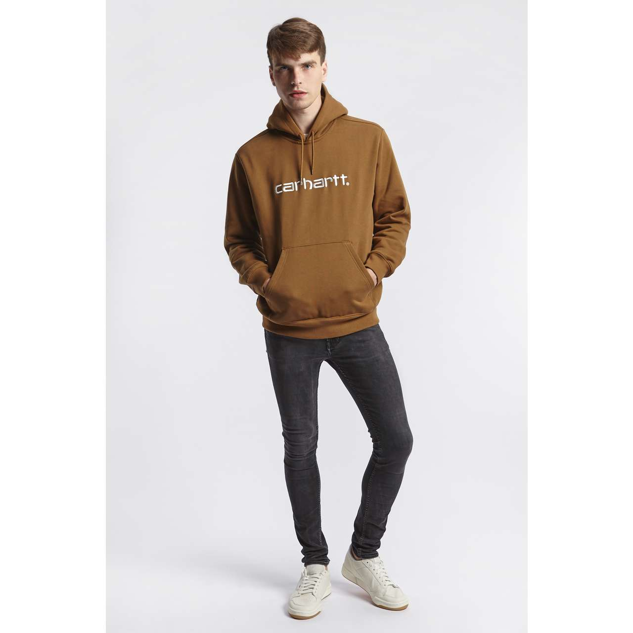 Bluza Carhartt WIP  <br/><small>HOODED SWEAT HZ90 BROWN/WHITE </small>  I027093-HZ90