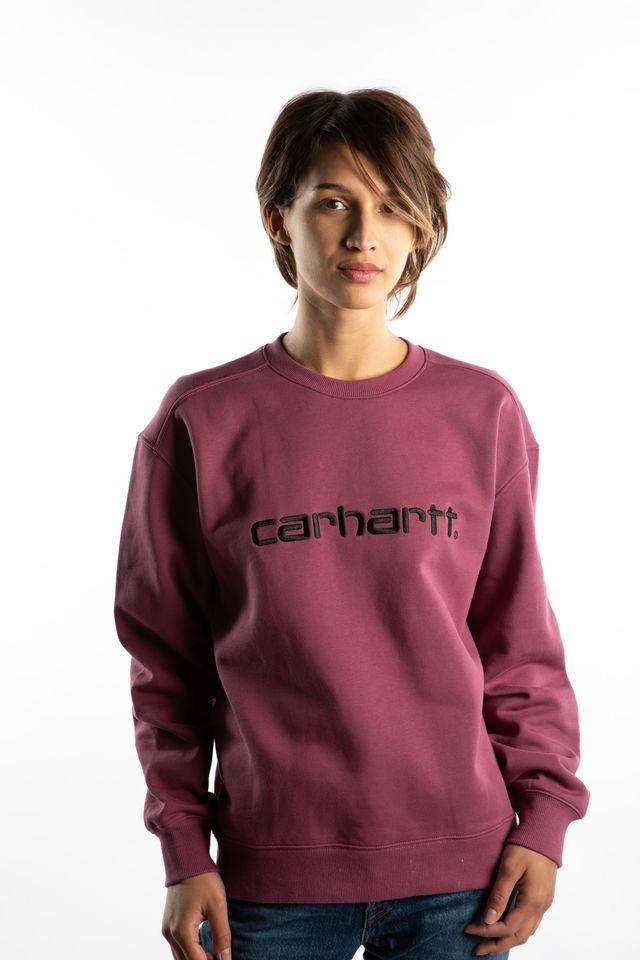 Carhartt WIP W' CARHARTT SWEATSHIRT 05D00 DUSTY FUCHSIA/BLACK I027475-05D00