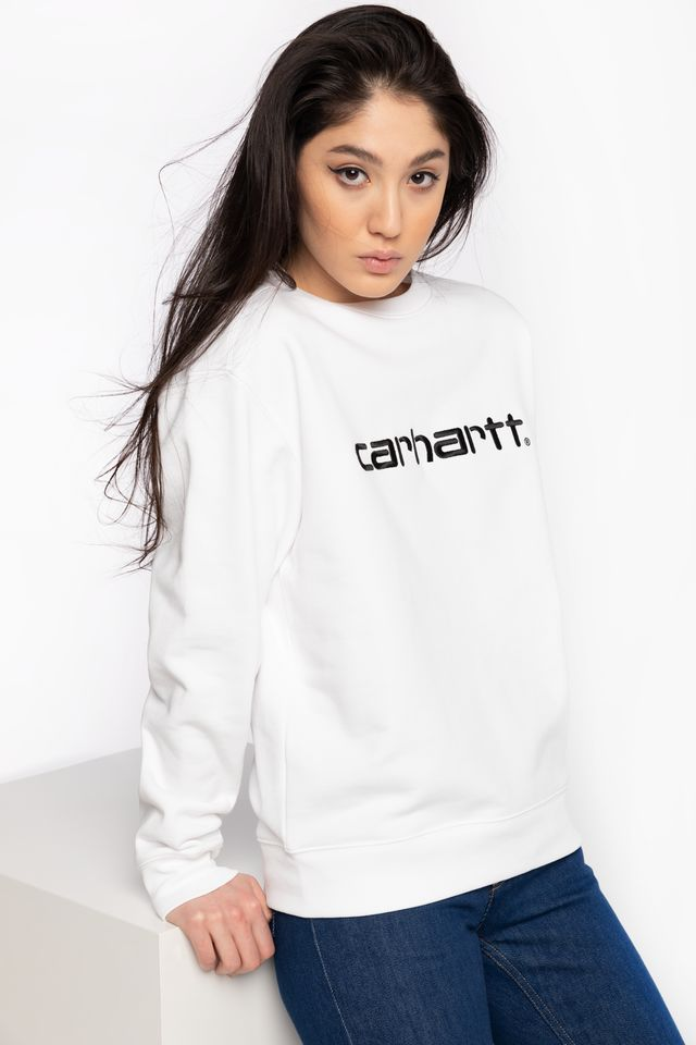 WHITE/BLACK BLUZA W' Carhartt Sweat I027475-290