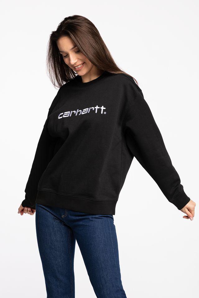 Carhartt WIP W' CARHARTT SWEATSHIRT 8990 BLACK/WHITE I027475-8990