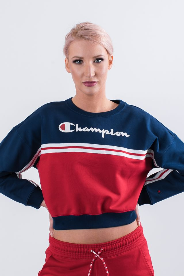 Champion CREWNECK CROPTOP BS509 BME/RIR 111309-BS509