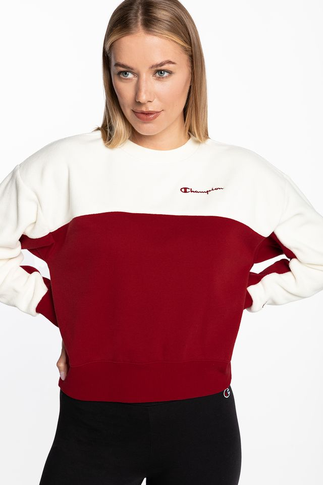 WHITE/RED Crewneck Sweater 113232-RS502