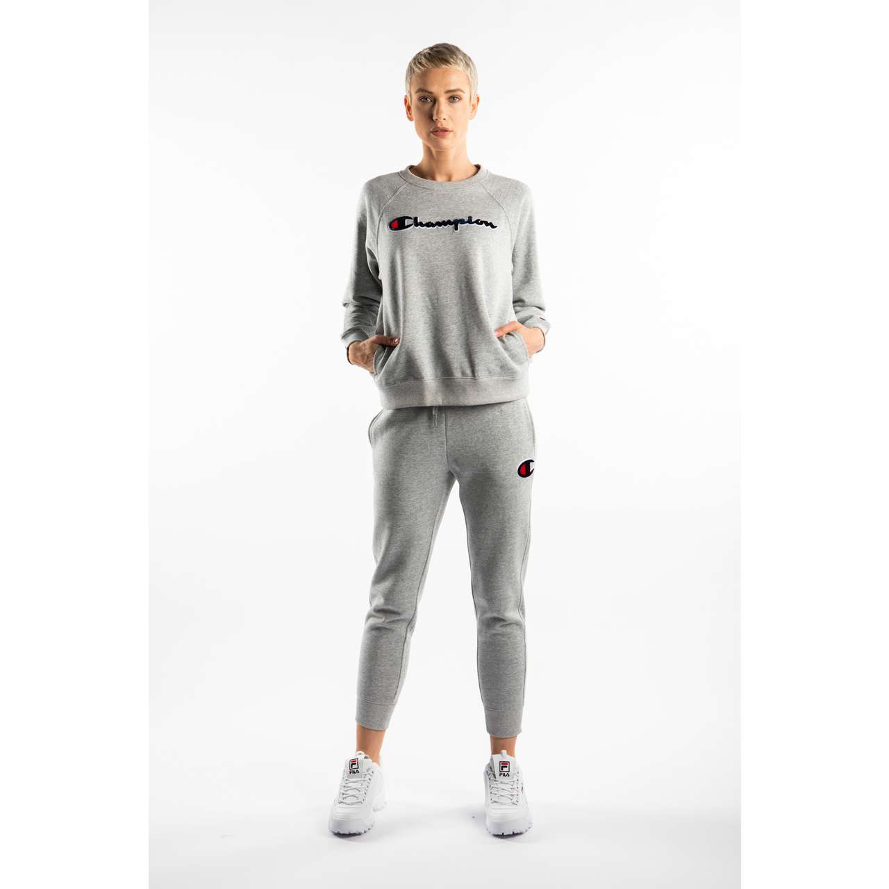 Bluza Champion  <br/><small>CREWNECK SWEATSHIRT EM021 GREY </small>  111966-EM021