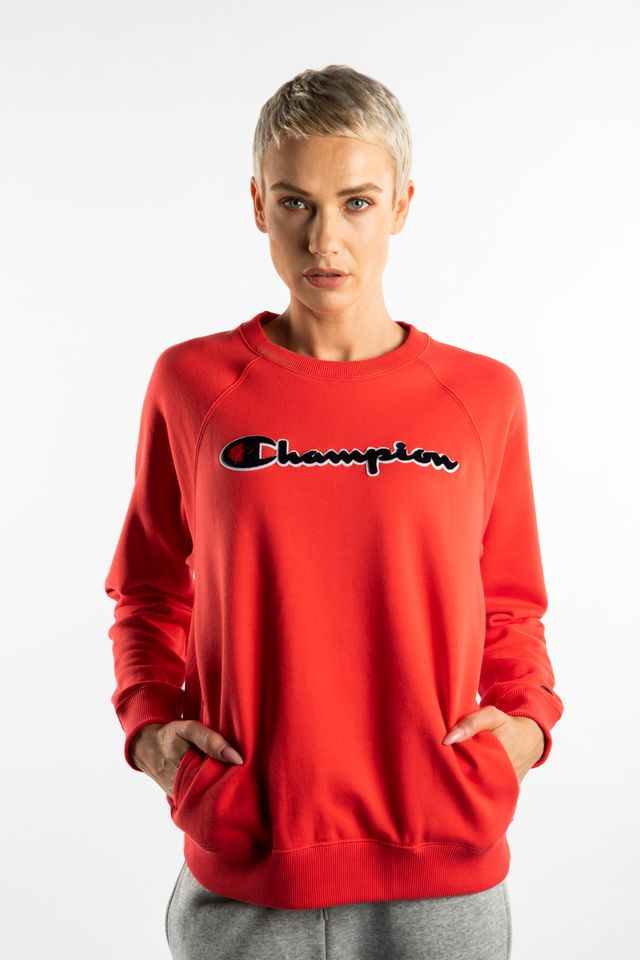 Champion CREWNECK SWEATSHIRT PS118 RED 111966-PS118