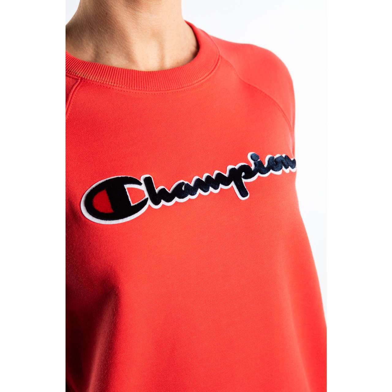 Bluza Champion  <br/><small>CREWNECK SWEATSHIRT PS118 RED </small>  111966-PS118
