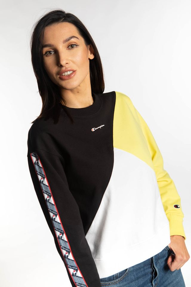 BLACK/YELLOW/WHITE CREWNECK SWEATSHIRT KK001