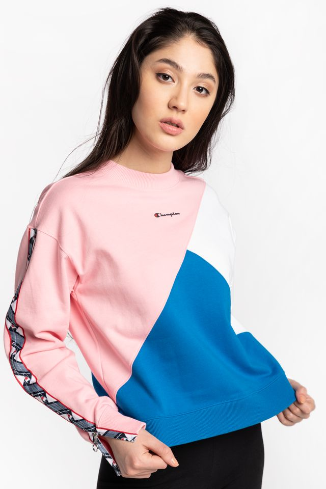 PINK/WHITE/BLUE CREWNECK SWEATSHIRT PS024