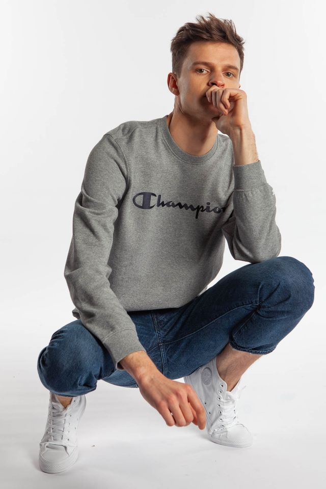 LIGHT GREY CREWNECK SWEATSHIRT EM524