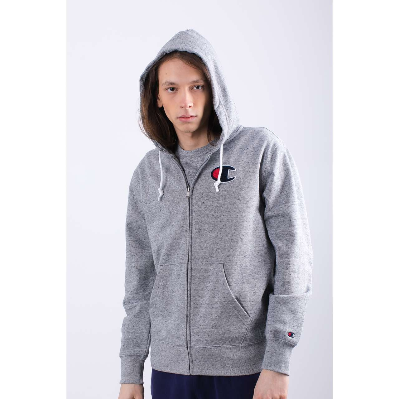 Bluza Champion  <br/><small>HOODED FULL ZIP SWEATSHIRT EM017 GRLTM </small>  212941-EM017